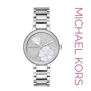 Michael Kors Women's Watch Courtney Silver Crystal